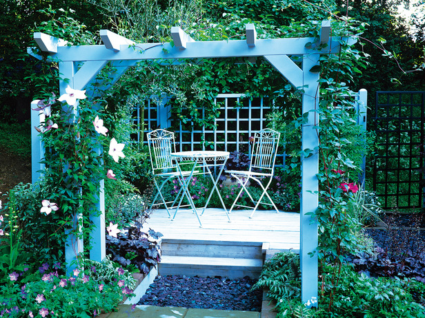 Image of: Garden Pergola Design with Cover