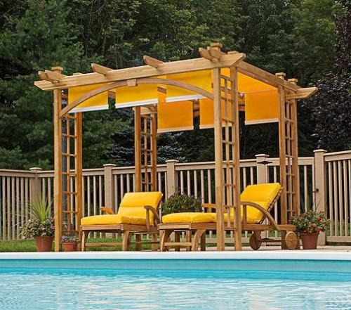 Image of: Garden Pergola with Swimming Pool