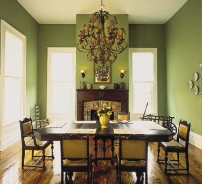 Image of: Green Victorian Living Room