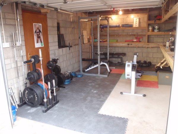 Image of: Idea of Gym Garage
