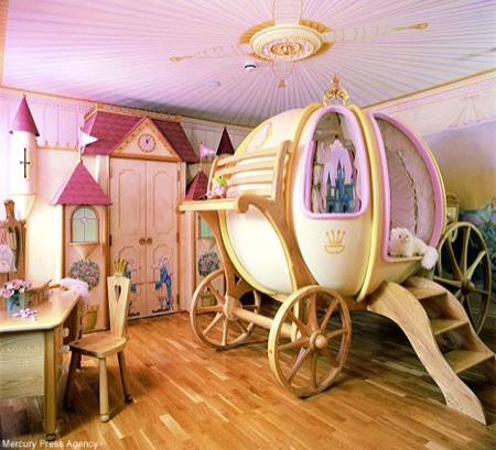 Image of: Kid Room Princess Theme Design Idea