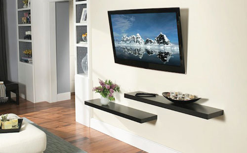 Image of: LCD Television Wall Mount Decoration Style