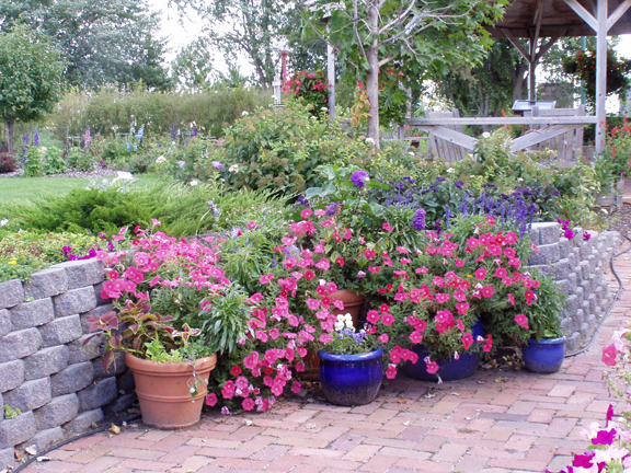 Landscaping Idea with Potted Plants