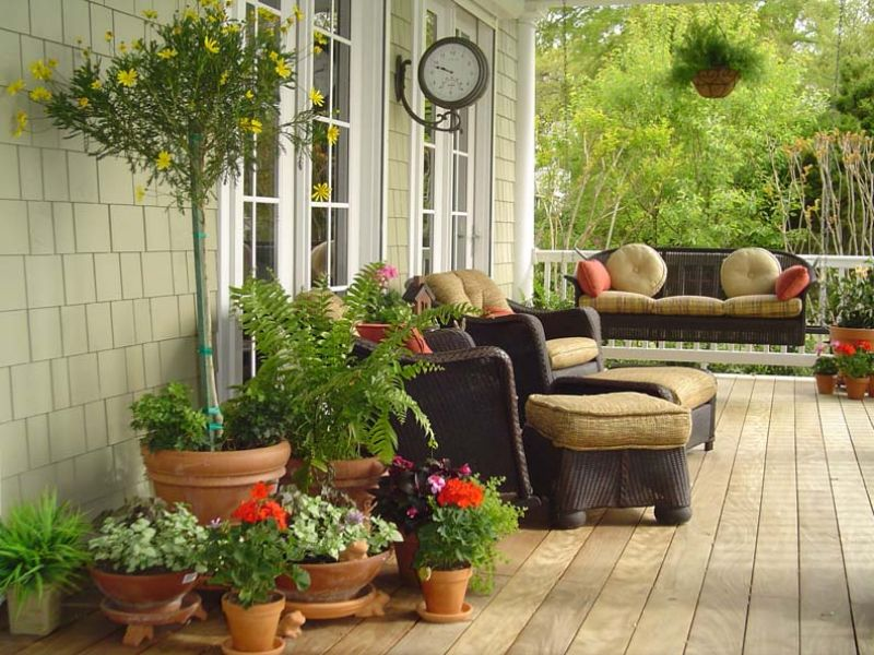 Image of: Landscaping with Potted Plants