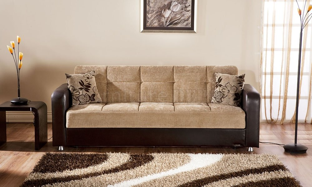 Image of: Light Brown Two Tone Sofa