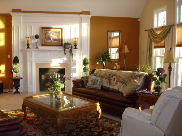 Living Room with Old World Decor Style