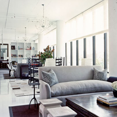 Image of: Long Narrow and Modern Living Dining Room