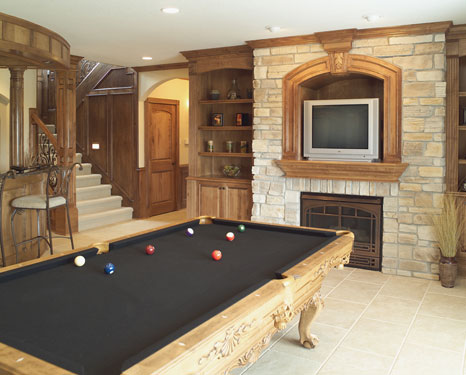 Lower Level Billiard Room Idea
