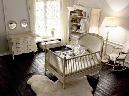 Image of: Cute Luxury Baby Girl Nursery