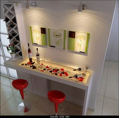 Image of: Modern Bar Counter Designs for Home