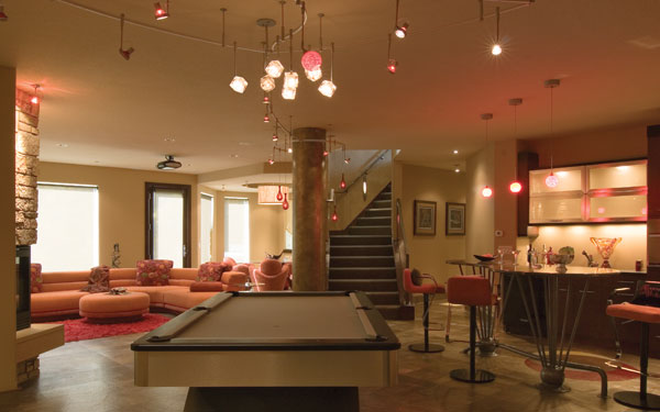 Image of: Modern Billiard Room Idea