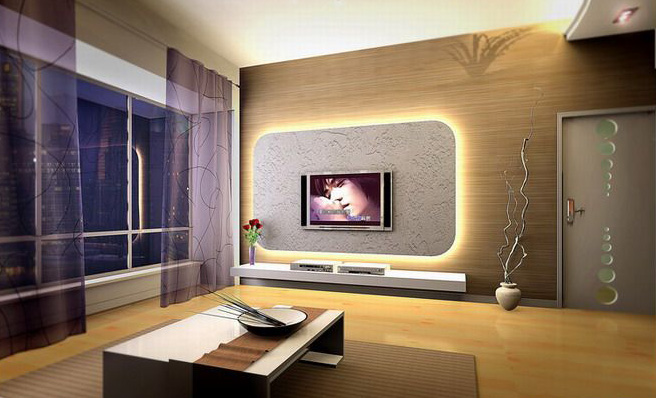 Image of: Modern Living Room Decorating