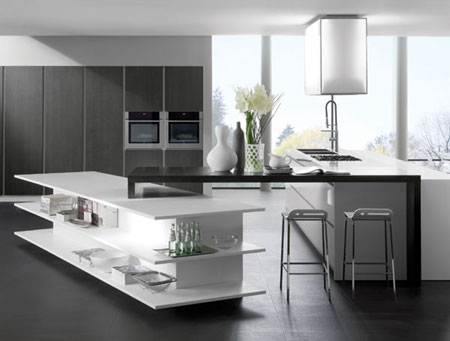 Image of: Modern White and Grey Kitchen