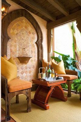 Image of: Moroccan Garden Design