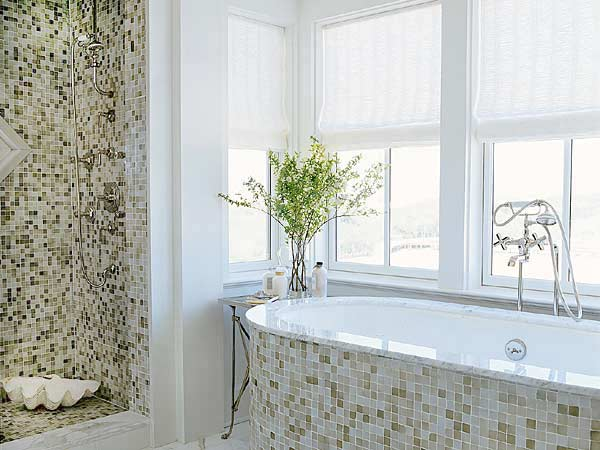 Image of: Mosaic Bathroom Design