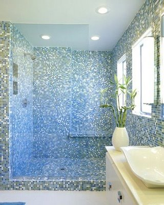 Image of: Mosaic Bathroom in Shower Design