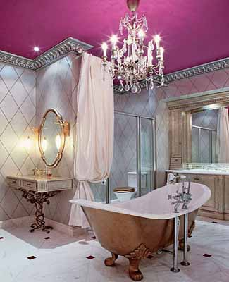 Image of: Old World Style Bathroom Decor