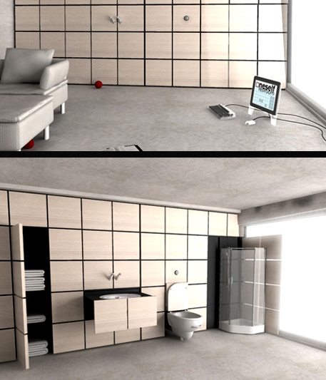 Image of: Oneself Modern Bathroom Concept
