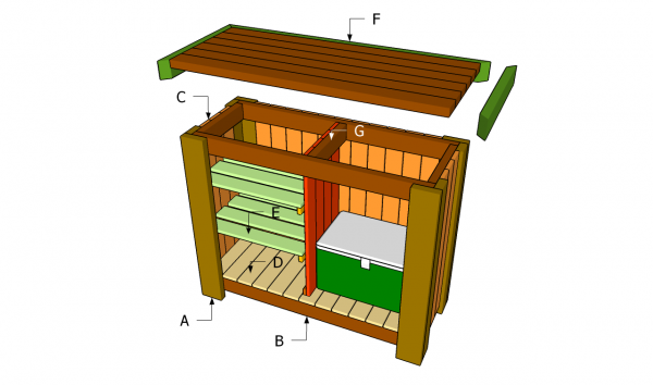 Image of: Outdoor Bar Plans