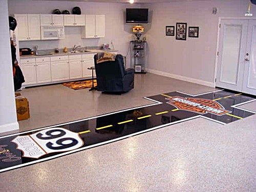 Image of: Cool Painted Floor Garage Ideas
