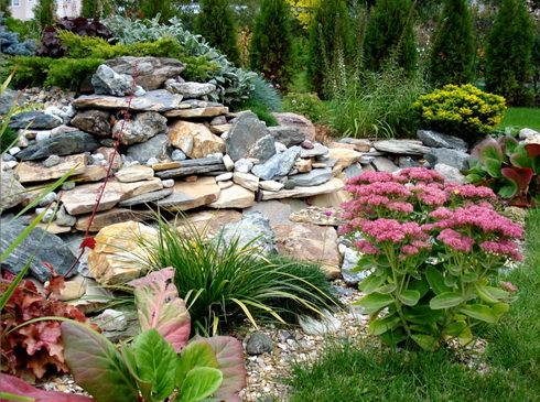 Image of: Picture of House Landscape Design