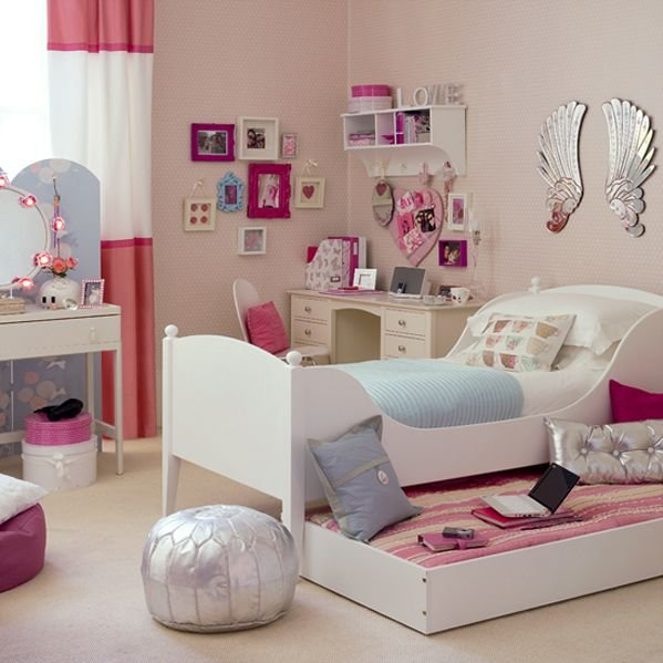 Image of: Pinky  Beautiful Bedroom for Girls