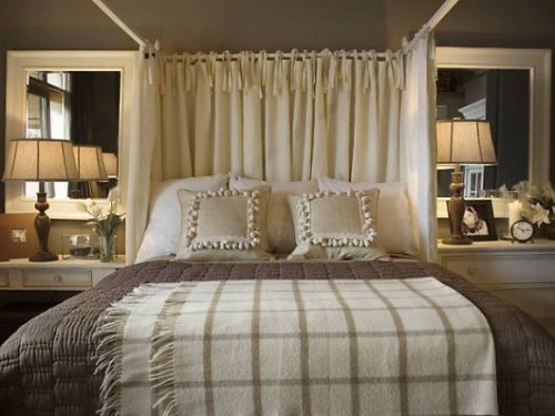 Romantic Bedroom in Smooth Brown Color