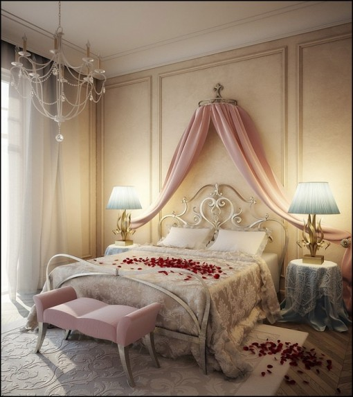 Image of: Romantic Pinky Bedroom