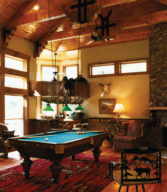 Rustic Billiard Room Idea