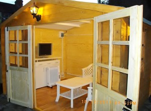 Image of: Shed as TV Corner by Keith
