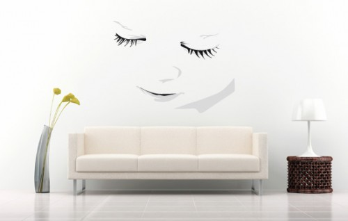 Image of: Simple Living Room Wall Decoration