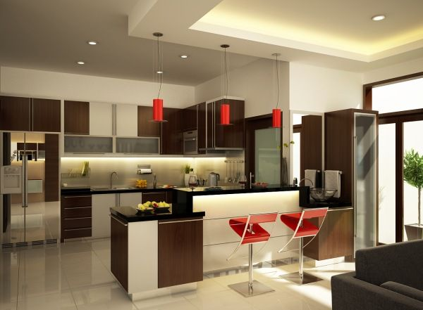 Image of: Sleek Kitchen Design