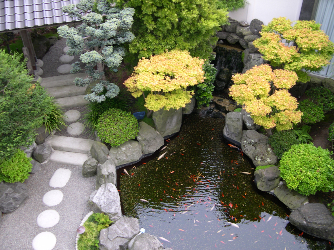 Image of: Small Japanese Garden Design with a Pond