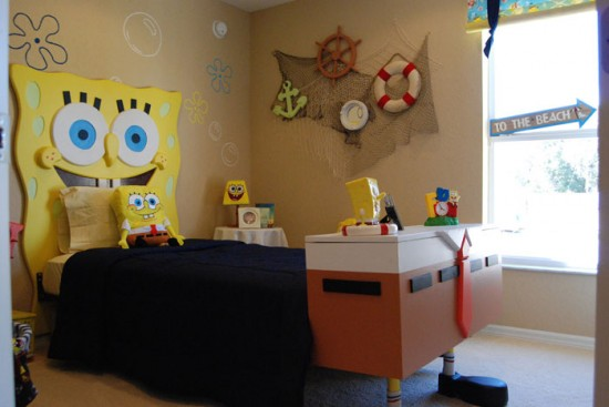 Image of: Sponge Bob Kids Room Design
