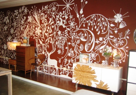 Stencils Wall Paint Design