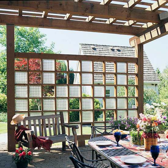 Trellis with Glass Blocks