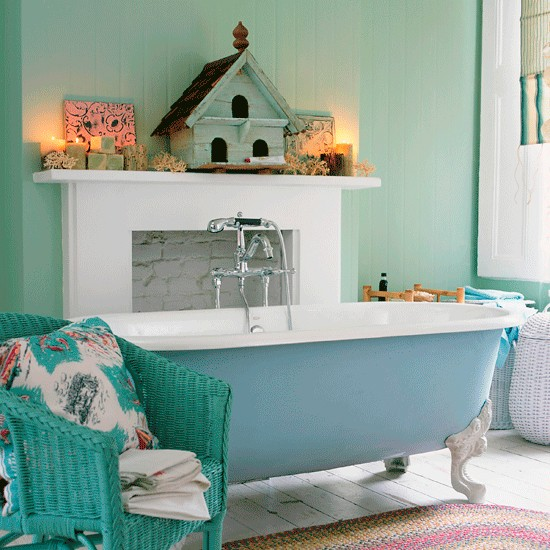 Turquoise Interior Design for Bathroom