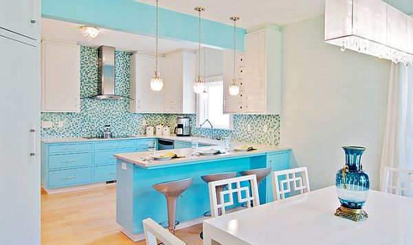 Image of: Turquoise Interior Design for Kitchen