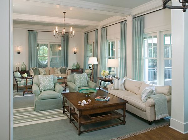Image of: Turquoise Interior Design for Living Room