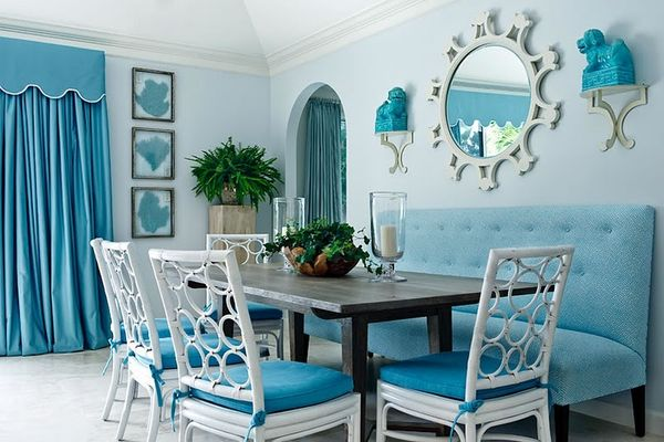 Image of: Turquoise Interior design for Dining Room