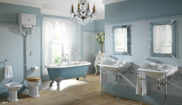 Image of: Victorian Bathroom Style