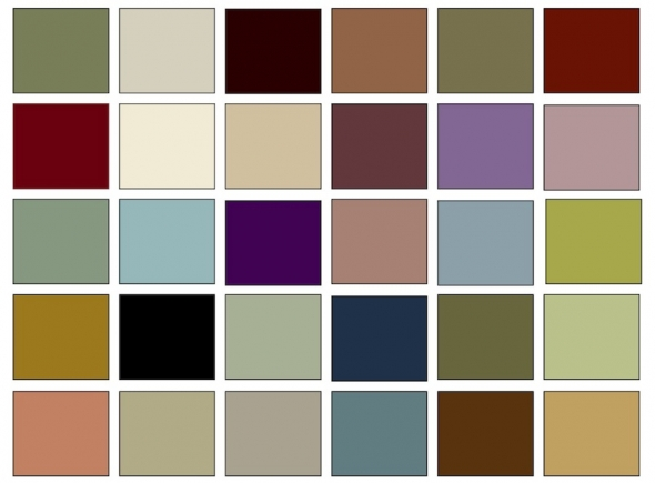 Image of: Victorian Color Palette