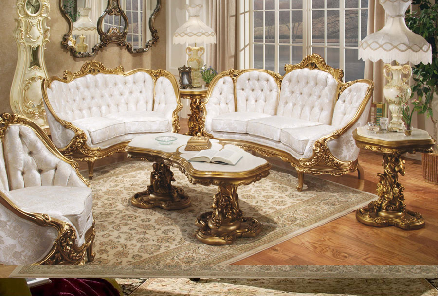 Image of: Victorian Living Room Furniture Set
