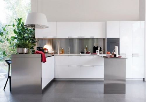 White and Grey Modern Kitchen Design