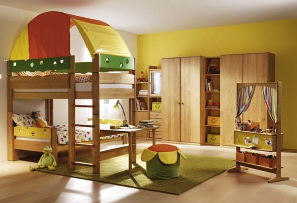 Image of: Wooden Bedroom Furniture for Kid Room