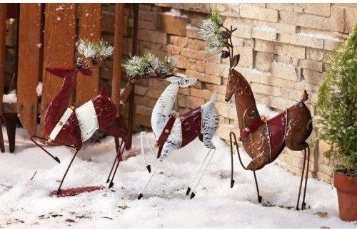 Image of: Wooden Christmas Yard Decoration