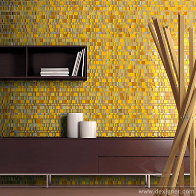 Image of: Yellow Glass Mosaic Tiles