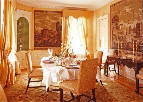 Classic Victorian Dining Room Interior Decor