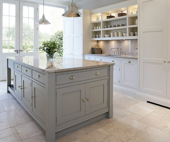 Image of: Beautiful White and Grey Kitchen