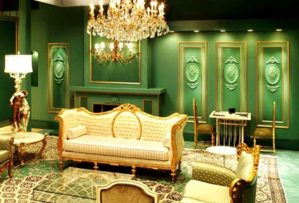 Image of: GReen Victorian Decorating Ideas
